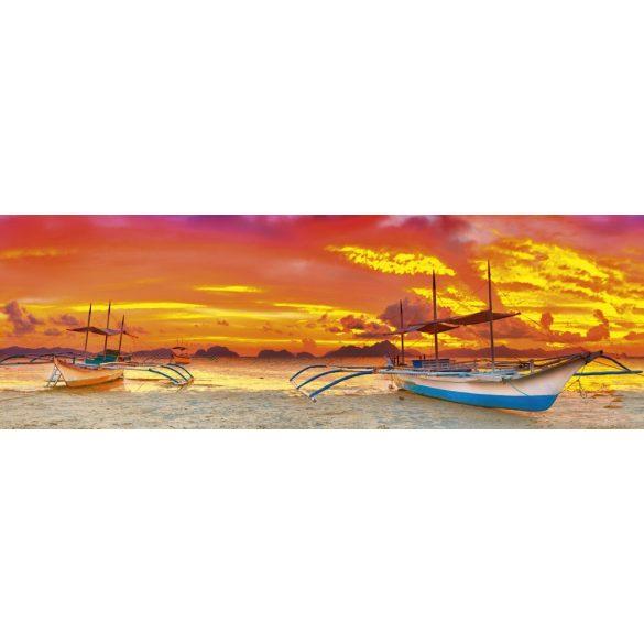 Hajók naplementében, konyhai matrica hátfal, 180 cm