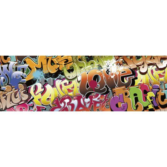 Graffiti, konyhai matrica hátfal, 180 cm