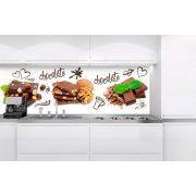 Csokoládé, konyhai matrica hátfal, 180 cm