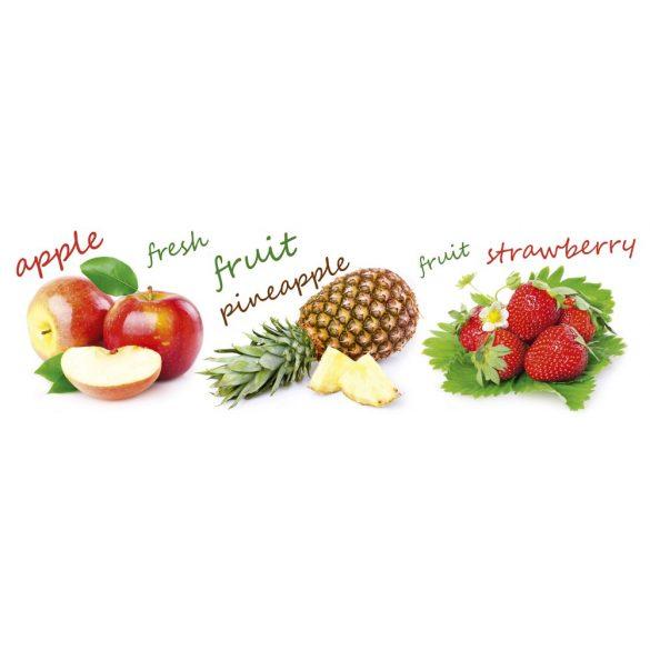 Gyümölcs mix, konyhai matrica hátfal, 180 cm