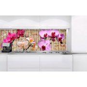 Orchideák, konyhai matrica hátfal, 180 cm