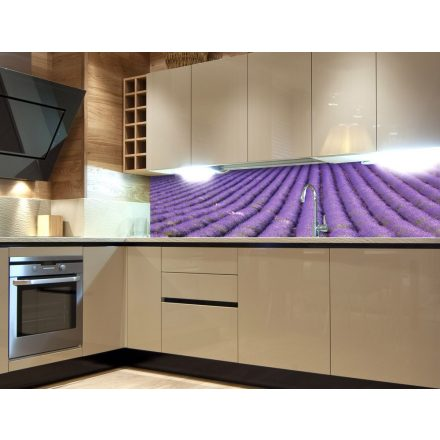 Levendulamező, konyhai matrica hátfal, 180 cm