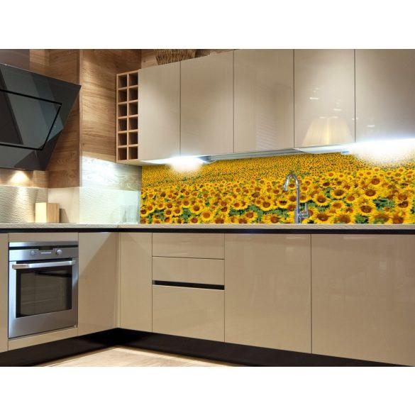 Napraforgómező, konyhai matrica hátfal, 180 cm