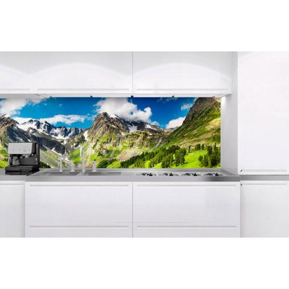 Havas hegyek, konyhai matrica hátfal, 180 cm