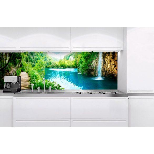 Sziklás vízesések, konyhai matrica hátfal, 180 cm