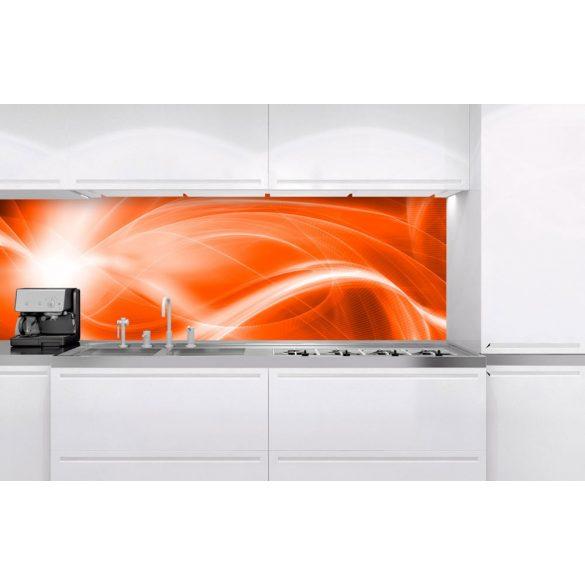 Narancsos fények, konyhai matrica hátfal, 180 cm