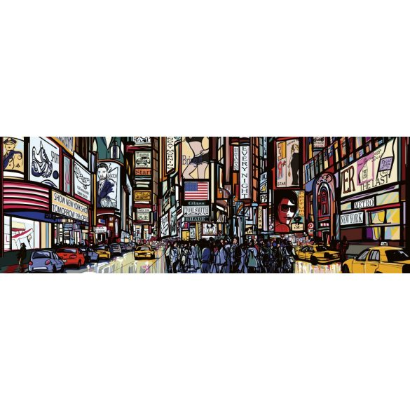 Times Square, konyhai matrica hátfal, 180 cm