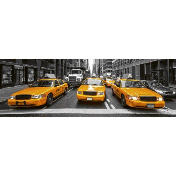 Sárga taxik, konyhai matrica hátfal, 180 cm