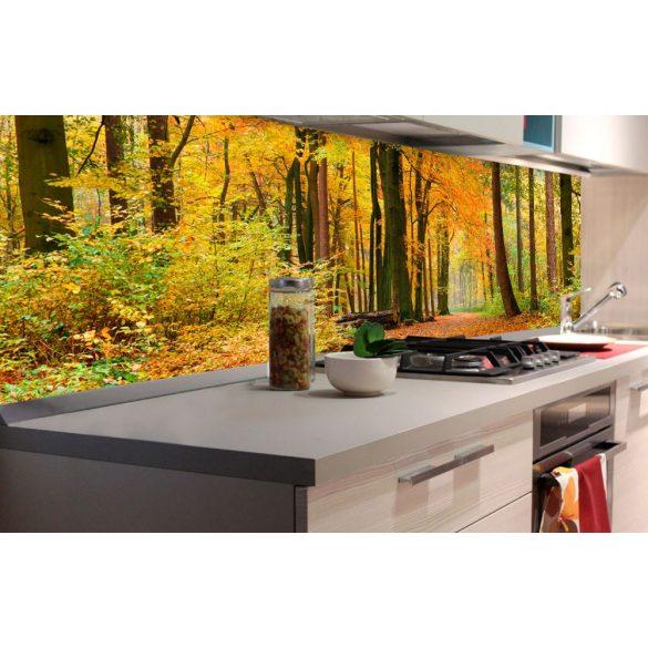 Őszi erdő, konyhai matrica hátfal, 180 cm