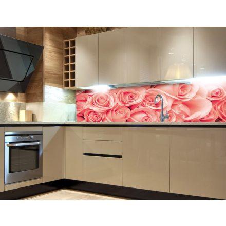 Rózsák, konyhai matrica hátfal, 180 cm