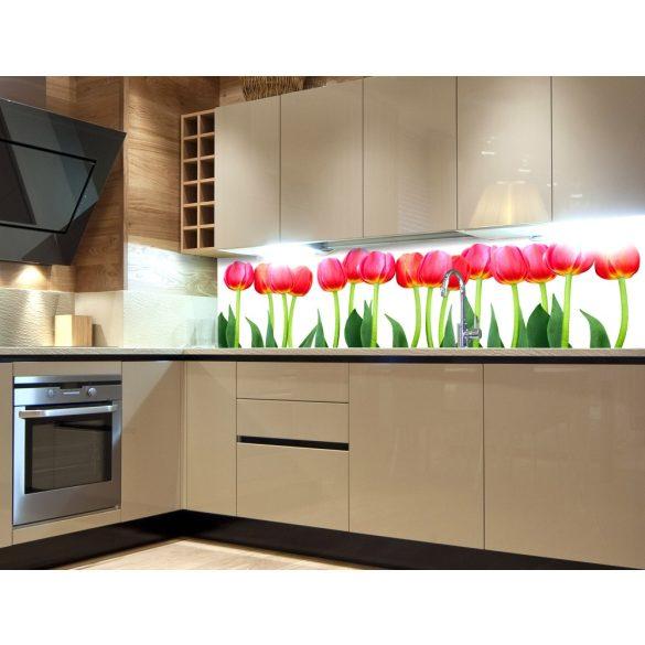 Tulipánok, konyhai matrica hátfal, 180 cm