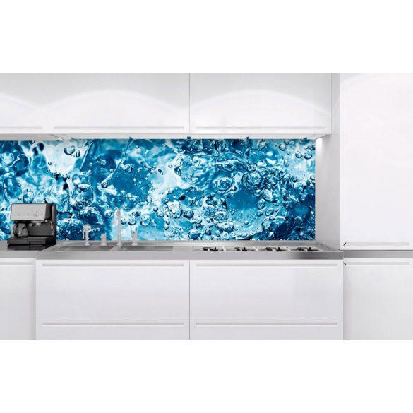 Buborékos víz, konyhai matrica hátfal, 180 cm