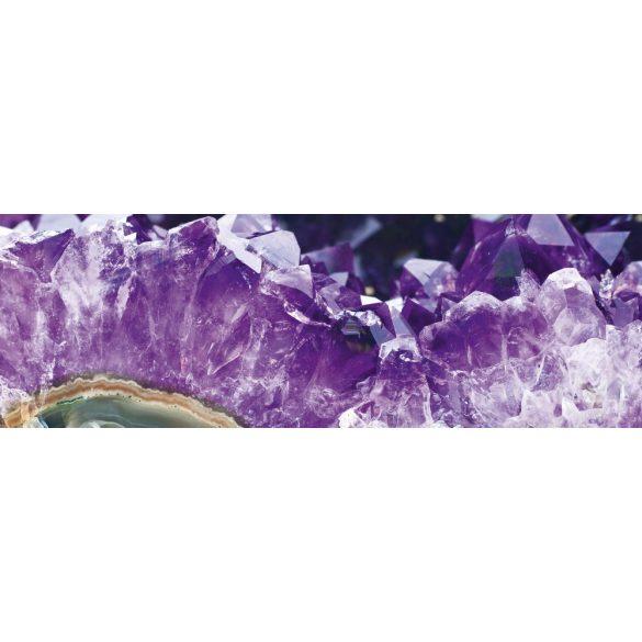 Lila kristályok, konyhai matrica hátfal, 180 cm