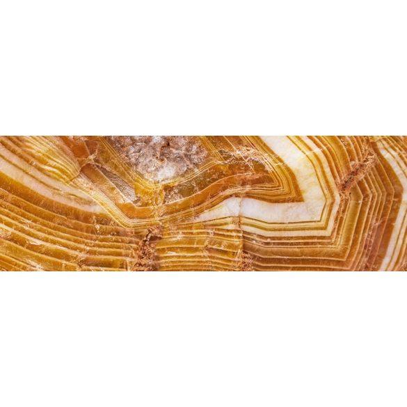 Sárga kristály, konyhai matrica hátfal, 180 cm