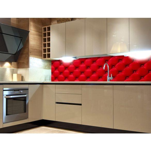 Piros bútor, konyhai matrica hátfal, 180 cm