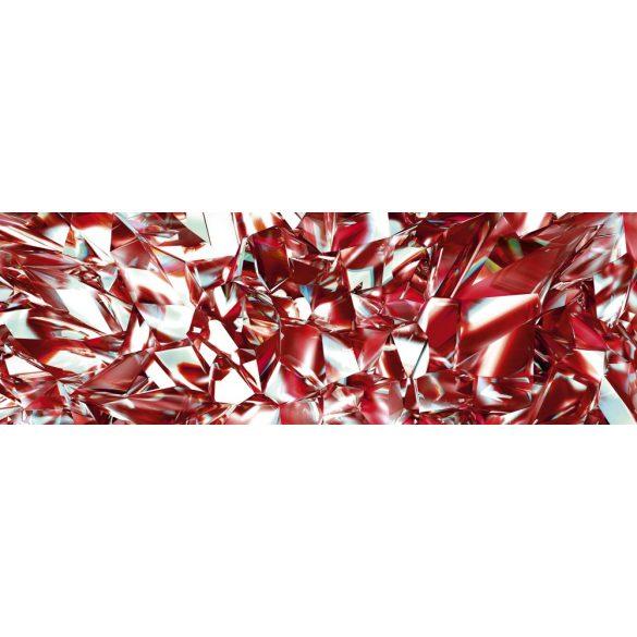 Piros gyémánt, konyhai matrica hátfal, 180 cm