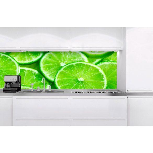 Lime szeletek, konyhai matrica hátfal, 180 cm