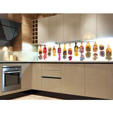 Szárított fűszerek, konyhai matrica hátfal, 180 cm