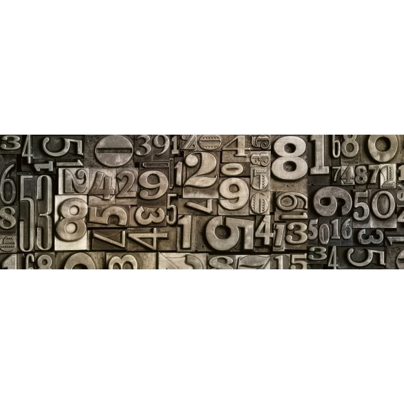 Fém számok, konyhai matrica hátfal, 180 cm