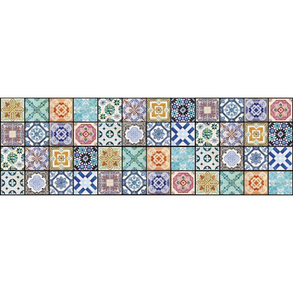 Csempeminták, konyhai matrica hátfal, 180 cm