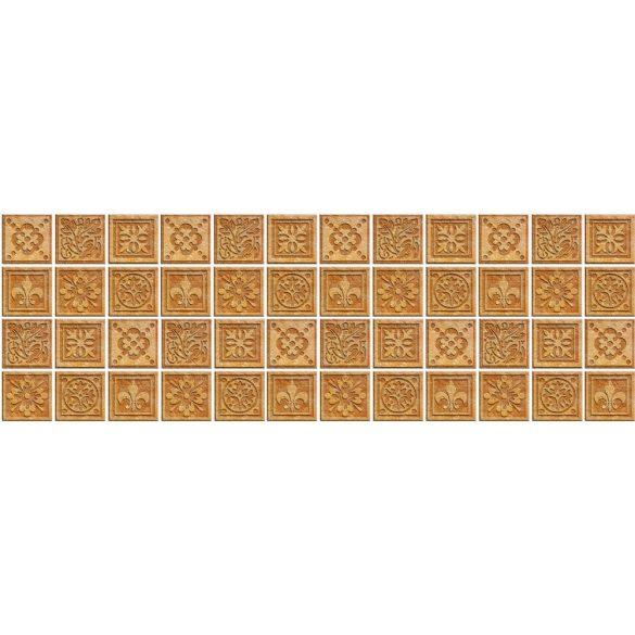 Natúr csempeminták, konyhai matrica hátfal, 180 cm