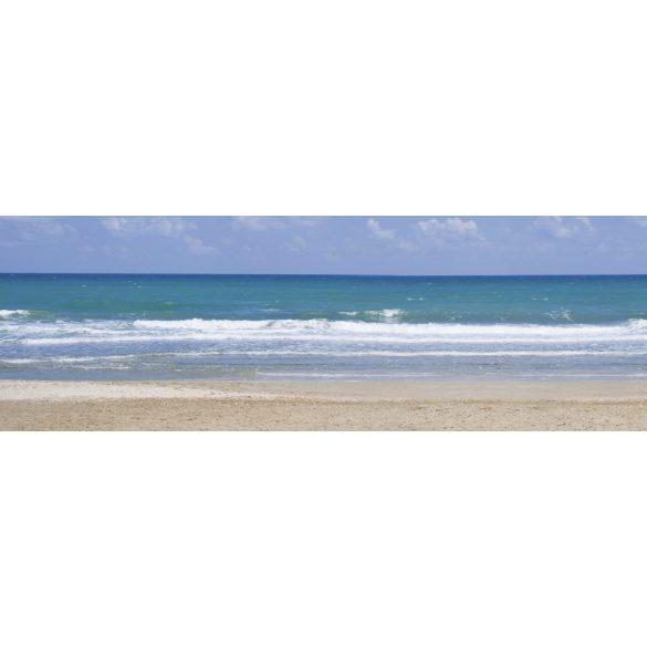 Hullámos tengerpart, konyhai matrica hátfal, 180 cm