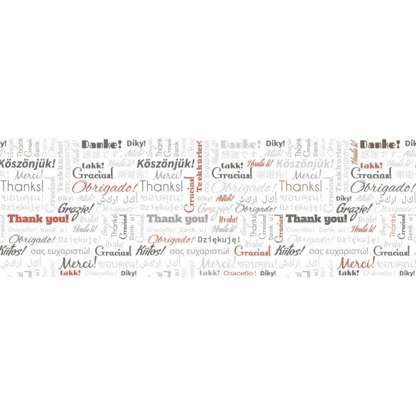 Köszönjük feliratok, konyhai matrica hátfal, 180 cm