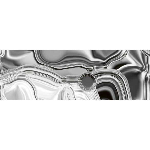 Ezüst folyadék, konyhai matrica hátfal, 180 cm