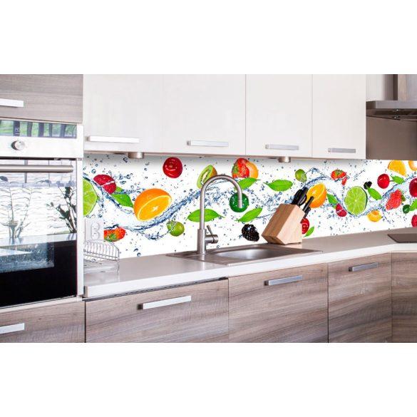 Gyümölcsök, konyhai matrica hátfal, 260 cm