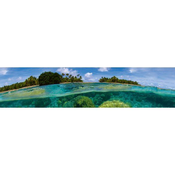 Trópusi korallszigetek, konyhai matrica hátfal, 260 cm