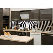 Zebrák, konyhai matrica hátfal, 260 cm