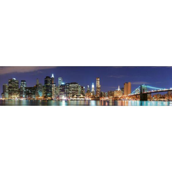 New York fényei, konyhai matrica hátfal, 260 cm