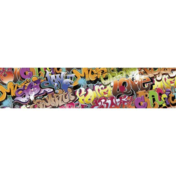 Graffiti, konyhai matrica hátfal, 260 cm