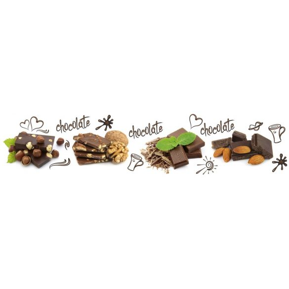 Csokoládé, konyhai matrica hátfal, 260 cm