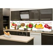 Gyümölcs mix, konyhai matrica hátfal, 260 cm