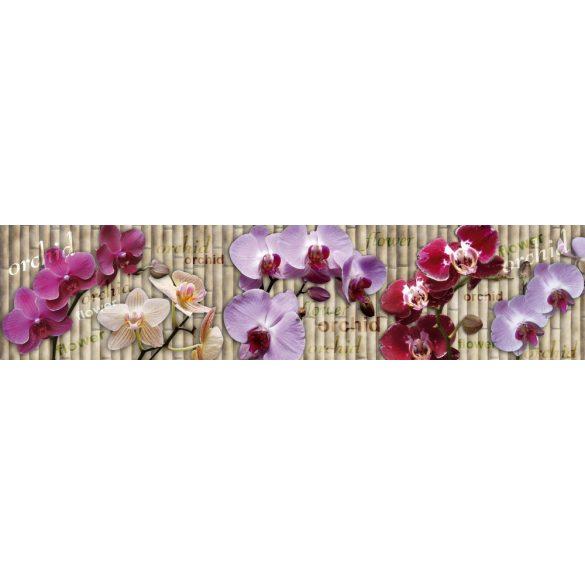 Orchideák, konyhai matrica hátfal, 260 cm
