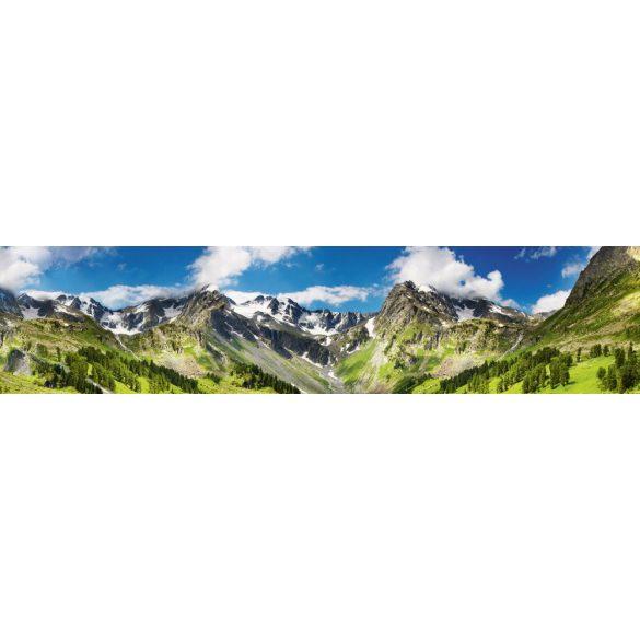 Havas hegyek, konyhai matrica hátfal, 260 cm