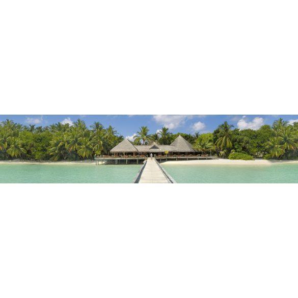 Trópusi paradicsom, konyhai matrica hátfal, 260 cm