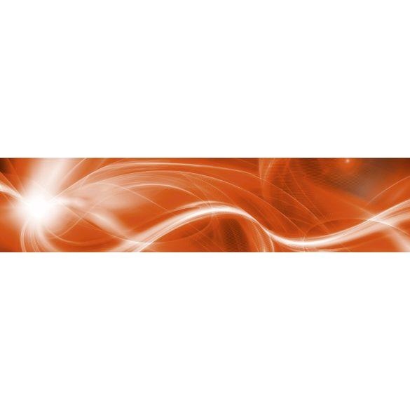 Narancsos fények, konyhai matrica hátfal, 260 cm