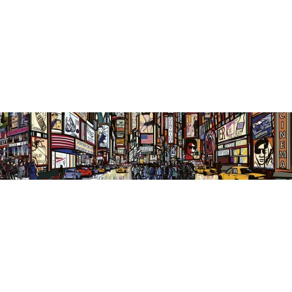Times Square, konyhai matrica hátfal, 260 cm