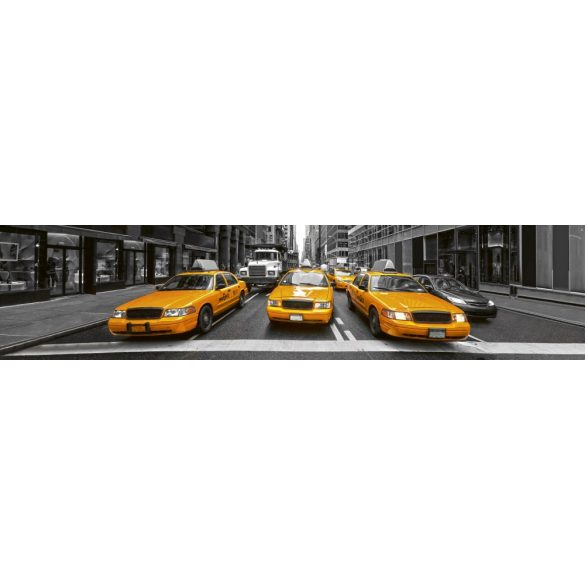 Sárga taxik, konyhai matrica hátfal, 260 cm