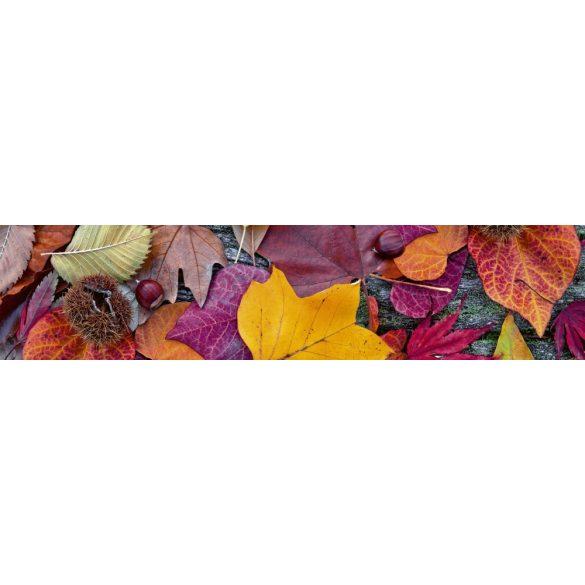 Őszi levelek és termések, konyhai matrica hátfal, 260 cm
