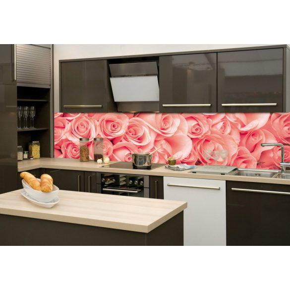 Rózsák, konyhai matrica hátfal, 260 cm