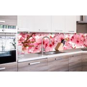 Cseresznyevirágok, konyhai matrica hátfal, 260 cm