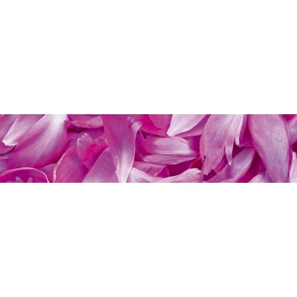 Rózsaszín virágszirmok, konyhai matrica hátfal, 260 cm