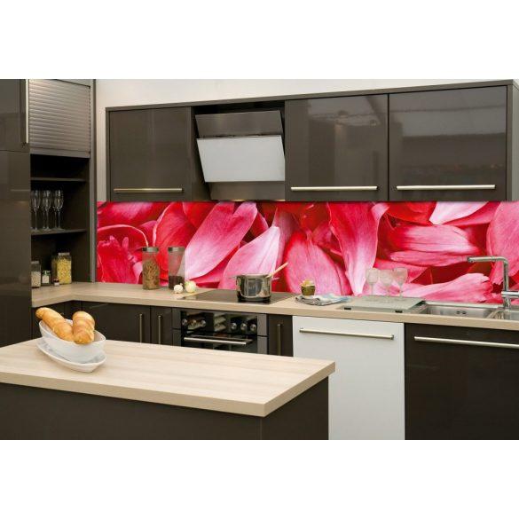 Virágszirmok, konyhai matrica hátfal, 260 cm