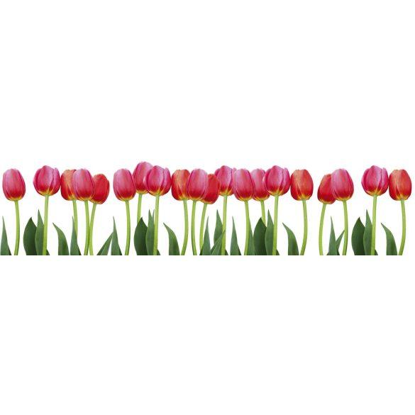 Tulipánok, konyhai matrica hátfal, 260 cm