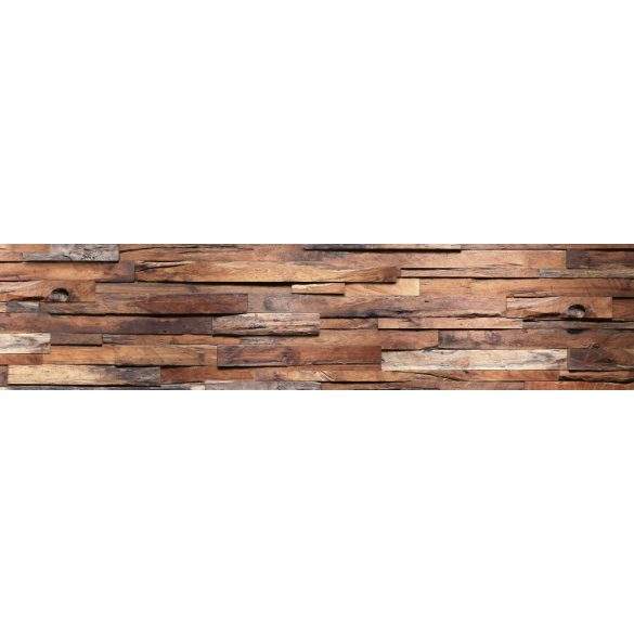Fa rétegek, konyhai matrica hátfal, 260 cm