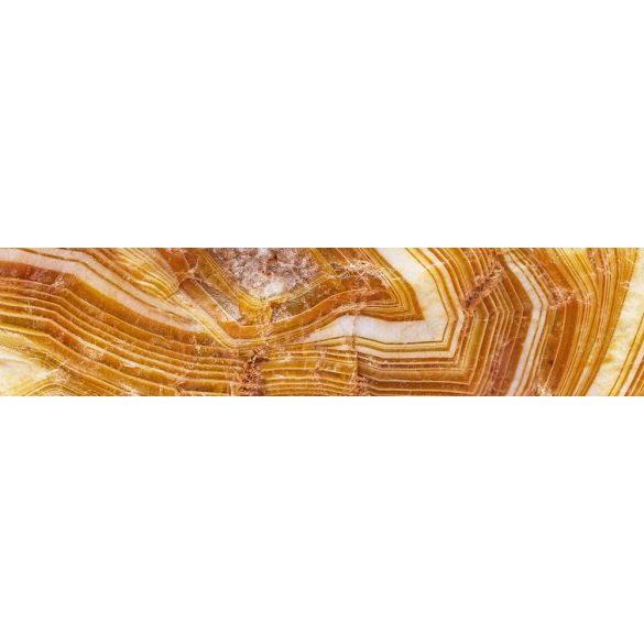 Sárga kristály, konyhai matrica hátfal, 260 cm