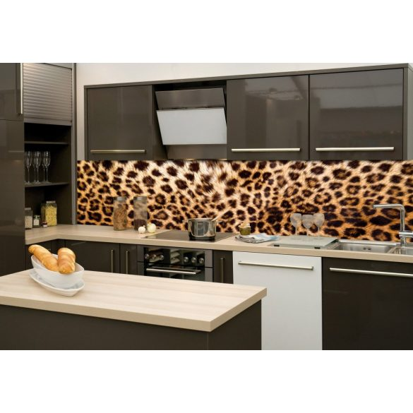 Leopárd, konyhai matrica hátfal, 260 cm